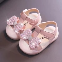 children beach sandals infant girls summer rhinestone butterfly knot casual shoes toddler baby soft soled princess shoes