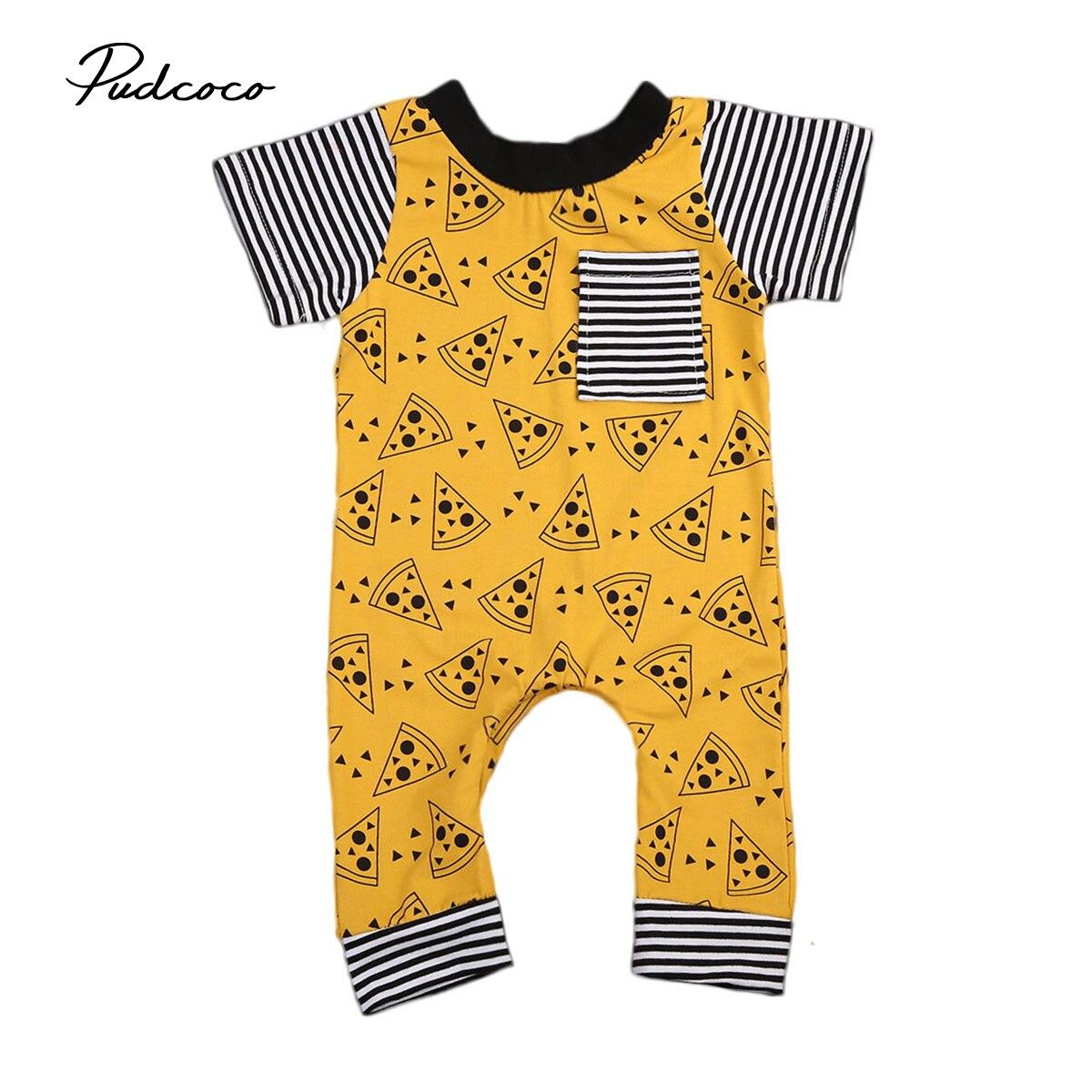Pudcoco US Stock bebé bonitas galletas ropa recién nacido a rayas de una pieza Romper niño niña conjuntos de mangas cortas ropa 0-24M