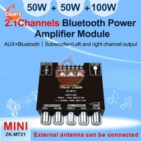 mt21 bluetooth 5 0 subwoofer amplifier board 50wx2100w 2 1 channel power audio stereo amplifier tone board bass amp aux 12v 24v