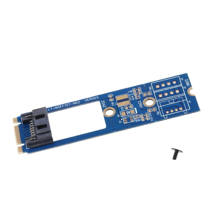 M.2 Ngff Naar 7 Pin Sata Iii 3 Ssd NGFF1ST-N02 Adapter Converter Board Kaart Pcb