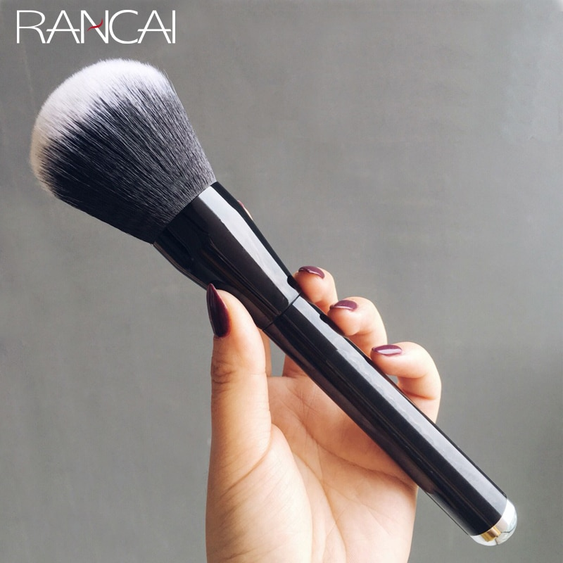 RANCAI, 1 Uds., brocha grande para polvos, colorete dorado, cosméticos, brochas para maquillaje, base, herramientas cosméticas de belleza, pinceles de maquillaje