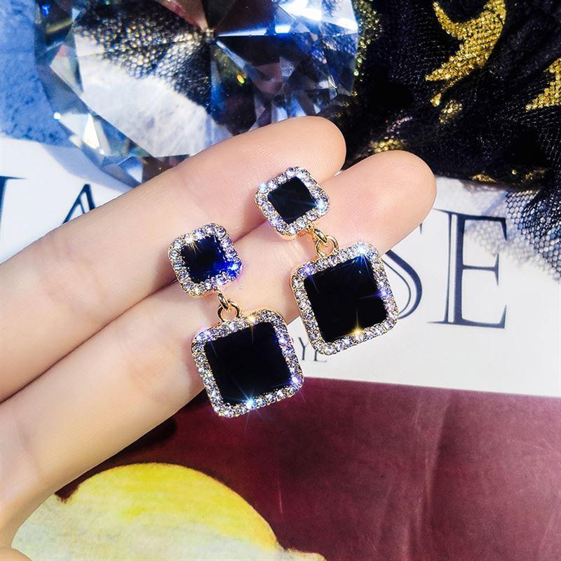 Pendientes de declaración para mujer, cristales de Cristal de lujo, diamantes de...