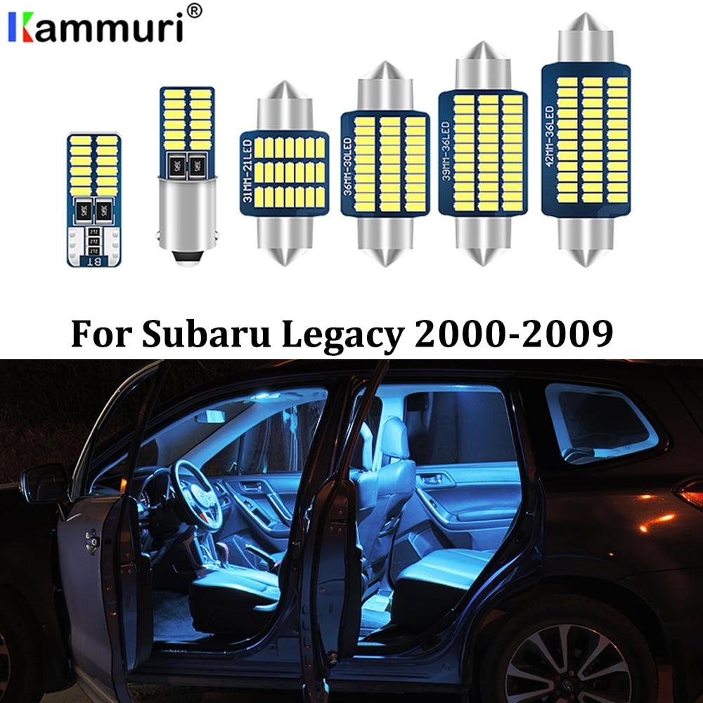 KAMMURI 10 Uds. Kit de paquete de luz Interior de coche LED blanco libre de errores para 2000-2009 luces interiores Subaru legity LED + herramienta