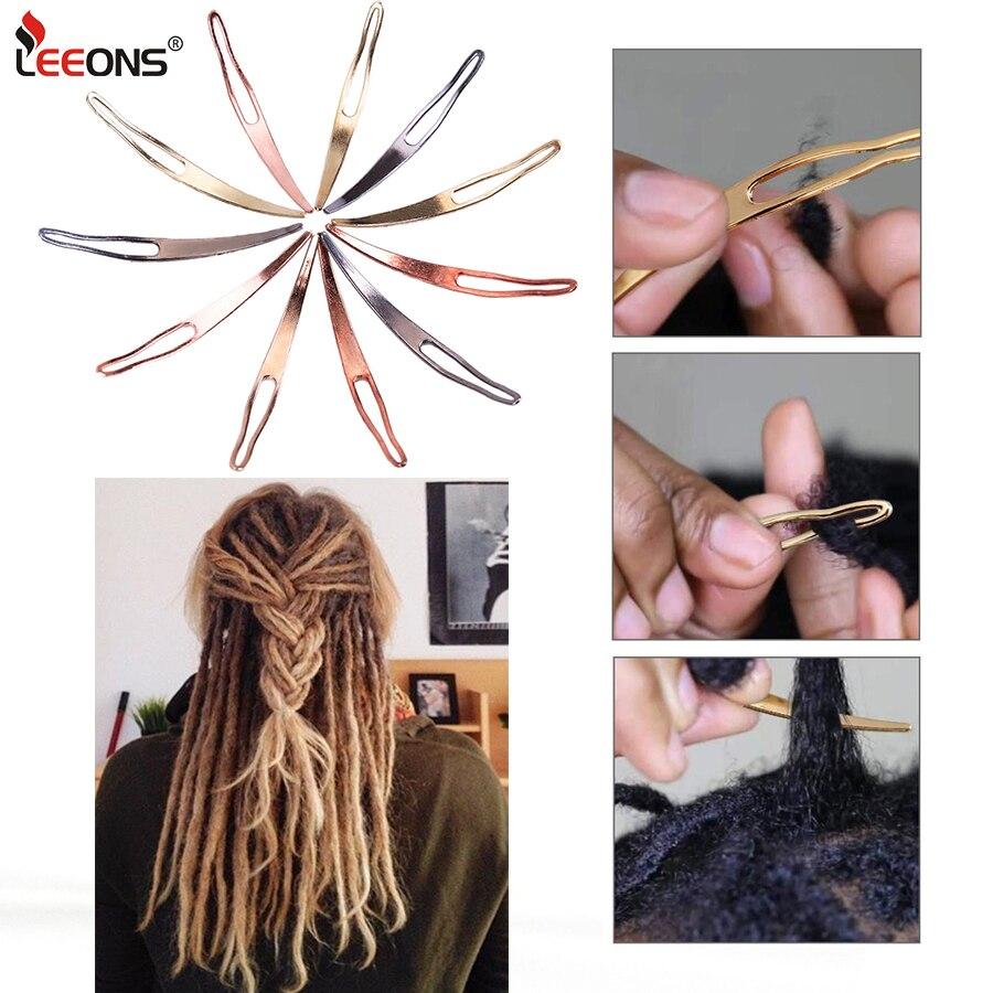 Недорогие Металлические Крючки для вязания, иглы для дредов, товары для парикмахерских салонов, золотые инструменты, замки для наращивания ...