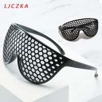vintage black punk oversized sunglasses women fashion grid one piece glasses ladies big frame sun glasses eyewear gafas uv400
