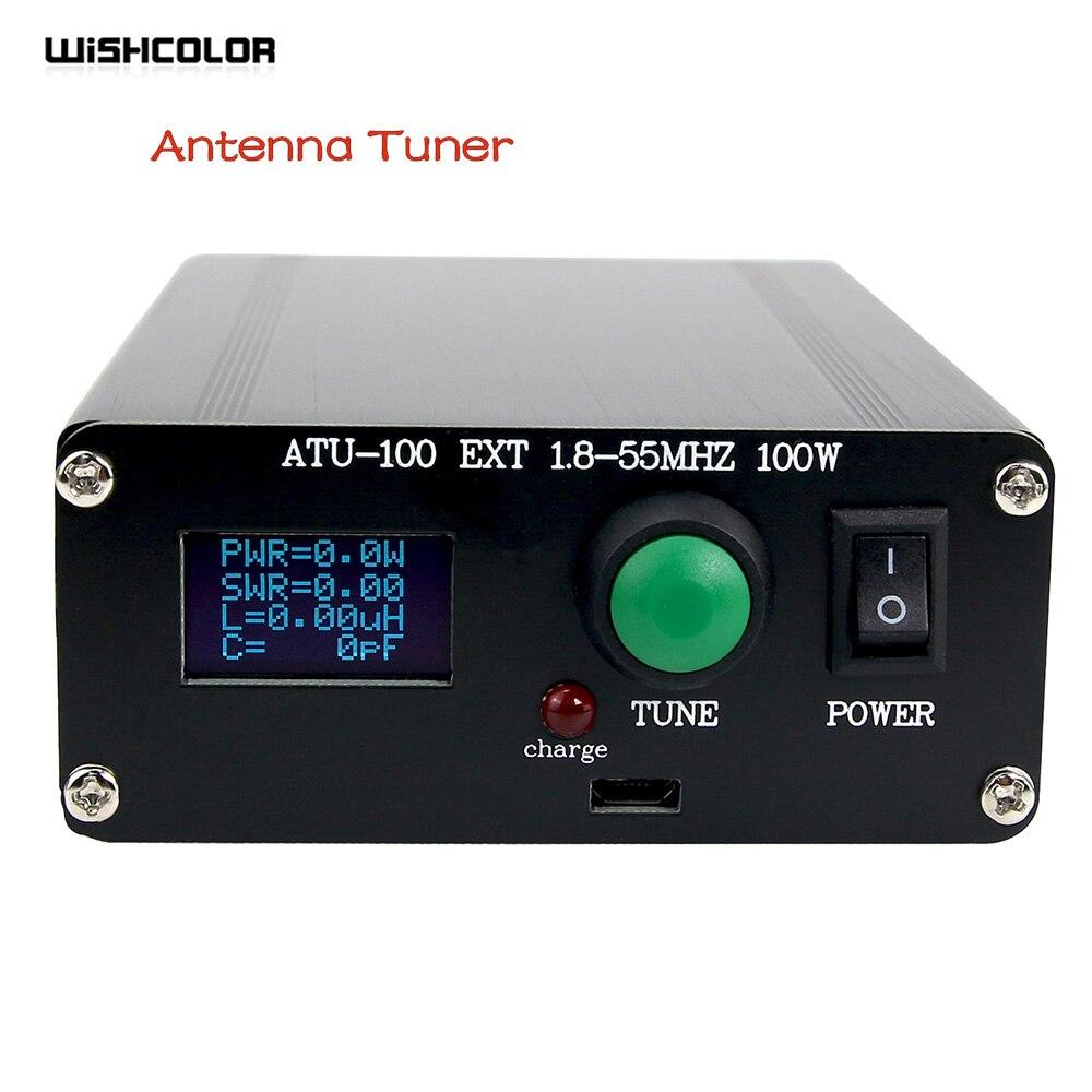 Rádio de Ondas Bateria de Exibição para Dentro para 10w a Estação de Rádio Curtas de 100w Novo Sintonizador Automático 100w 1.8-55mhz 0.96-polegada Oled de Ondas Atu 100