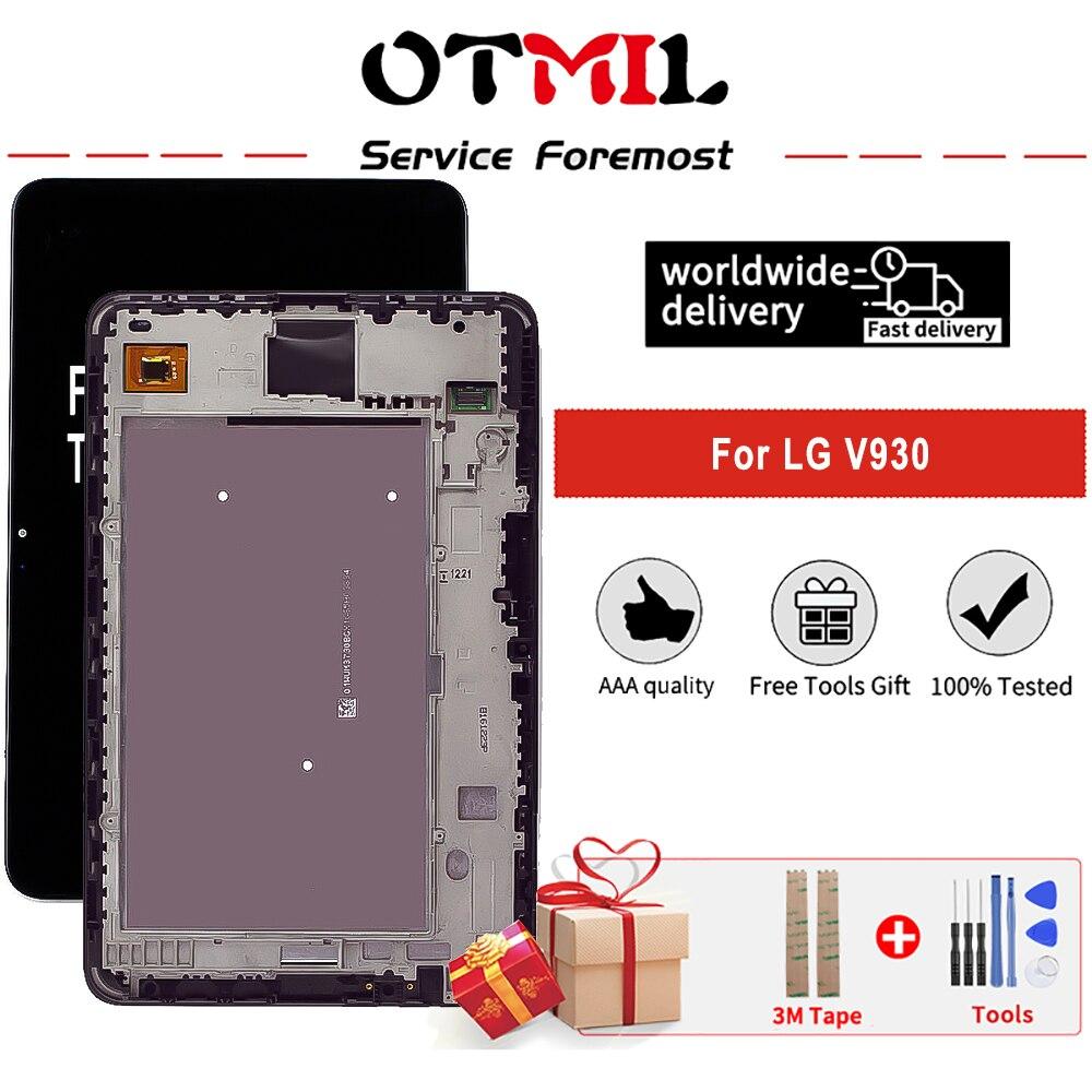 OTMIL-شاشة LG V930 LCD تعمل باللمس ، 10.1 إنش, مع إطار ومحول رقمي مع إطار لجهاز LG V930 V940 Tablet LCD