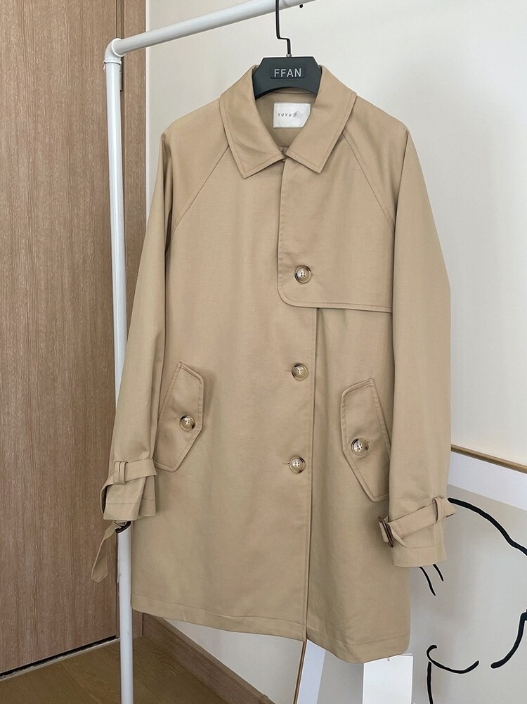 Trench Coat Small Medium Long Khaki Windbreaker Coat Women's Autumn British Style Casual Coat