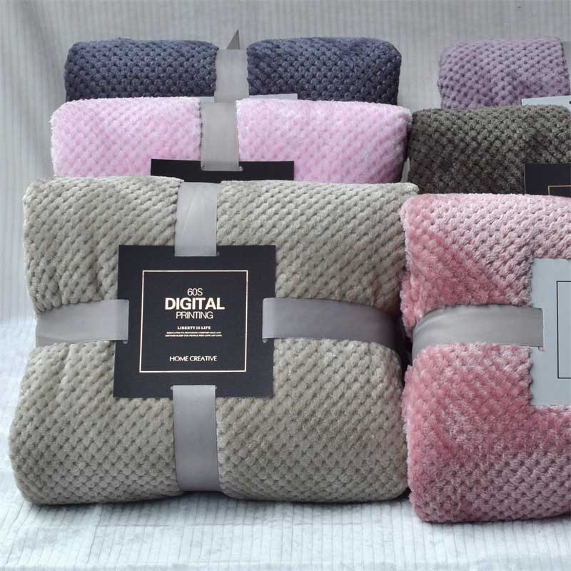 Home Textile polar microfiber blanket cover the bed 200x230cm large thick fleece sofa blanket pink s