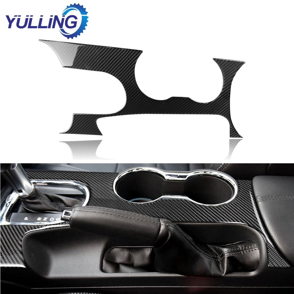 hot for mini cooper f60 countryman interior trim carbon fiber gear shift control panel cover sticker car styling accessories For Ford Mustang 2015-2017 Carbon Fiber Car Interior Gear Shift Panel Cover Trim Stickers Car Styling Accessories
