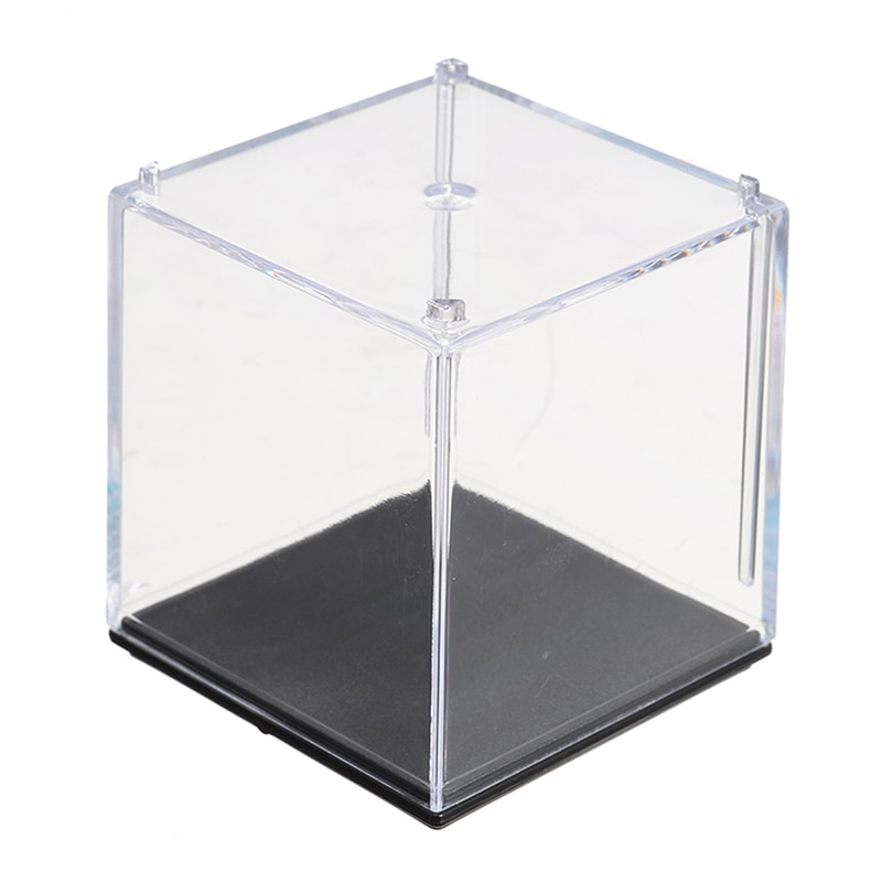 Small Size 5 x 5 x 5cm Clear Acrylic Display Box Dustproof Case Collection Box For Kids Toys Car Model Show Cube Case
