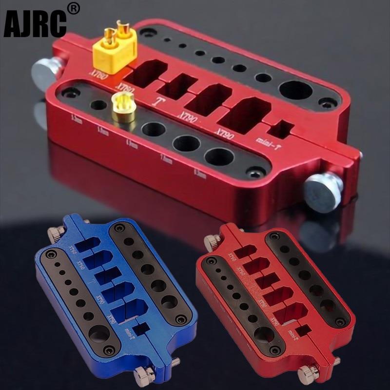 RC metal mini red soldering tool holder model car drone marine welding tool T plug connector XT60 XT90 qx aluminium alloy multifunctional soldering station xt60 xt90 t banana plug