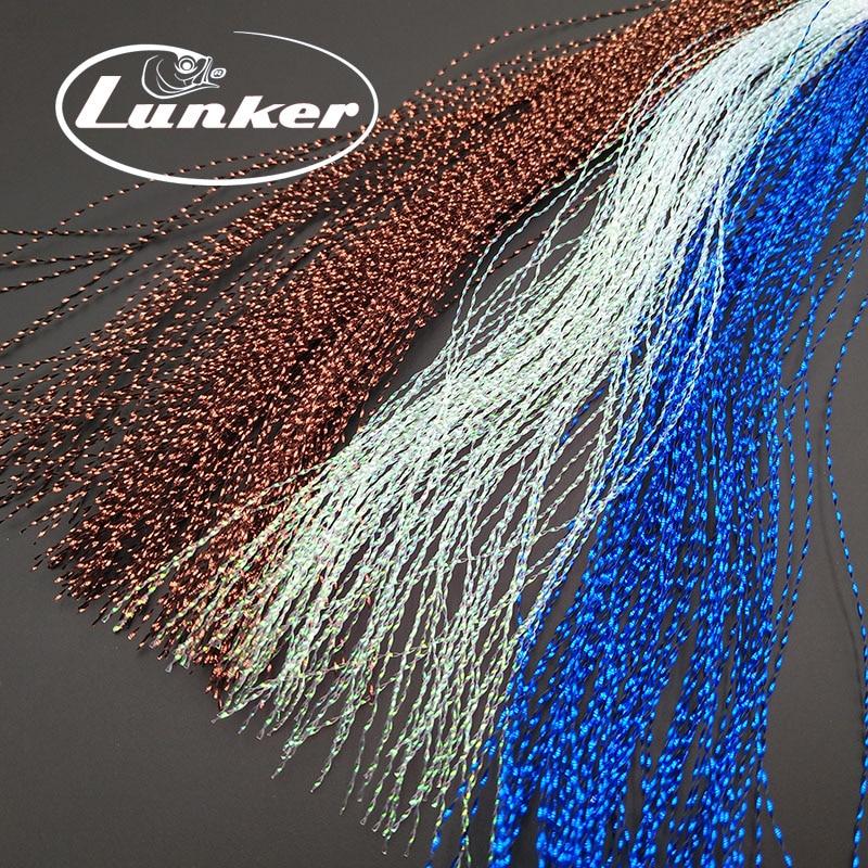 Lunker לטוס דיג טינסל מעוות גדיל מחרוזת קו קשירת פלאש קריסטל הניצוץ diy חומר לסייע ווים פיתוי זבובים