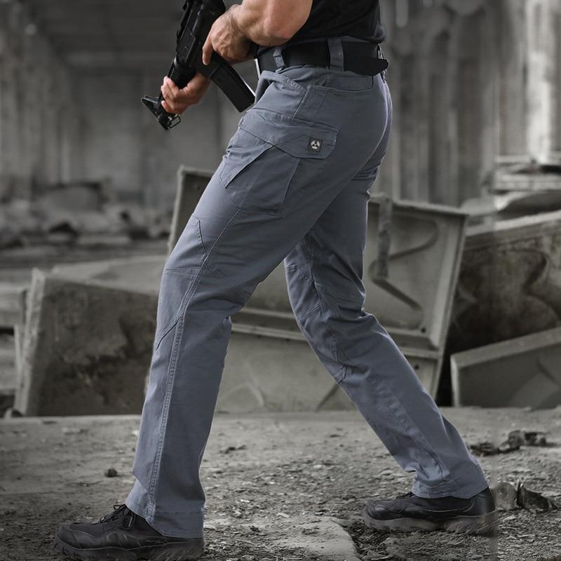 Брюки-карго Archon мужские уличные эластичные, хлопок, много карманов, стиль милитари, стиль милитари, повседневные штаны, весна-осень