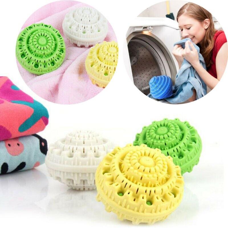 1 szt. Zielona eko magiczna kula do prania Orb bez detergentu myjnia kreator styl pralka ION ubrania kule do prania narzędzia do czyszczenia