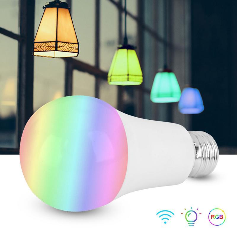 New Wireless WiFi Smart LED Bulb Light RGB Magic Lamp Dimmable Home compatible with Alexa/Google AC85-265V Smart Bulbs TSLM1