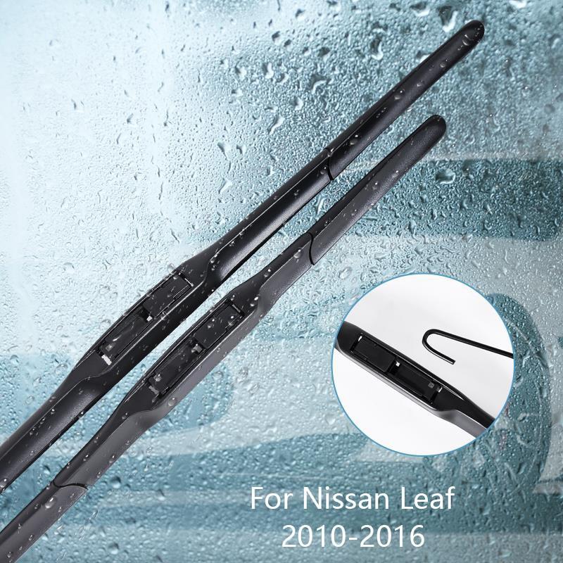 Escobilla limpiaparabrisas para Nissan Leaf 2010 2011 2012 2013 2014 2015 2016 accesorios de coche para limpiaparabrisas de goma automático