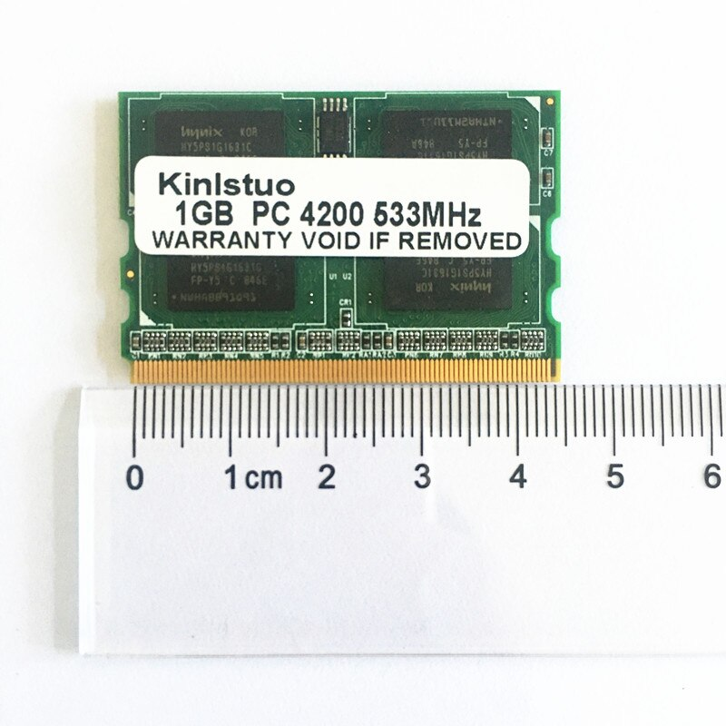 Memoria ram para ordenador portátil, 1G, 1GB, PC2-4200, DDR2-400/533/667MHZ, microDIMM, 172pin, para...