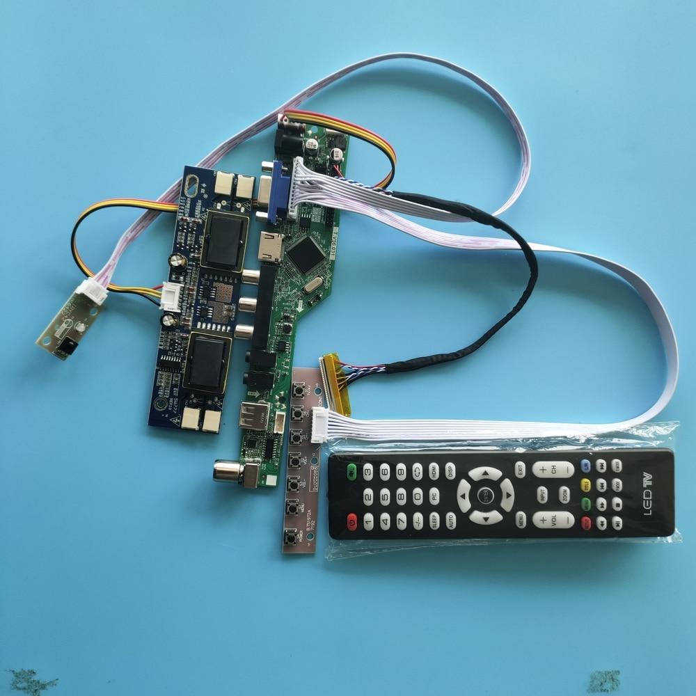 ل M170EG01 V1 LCD 30pin القرار TV المراقب مجلس إشارة رقمية 4 مصابيح 1280X1024 17