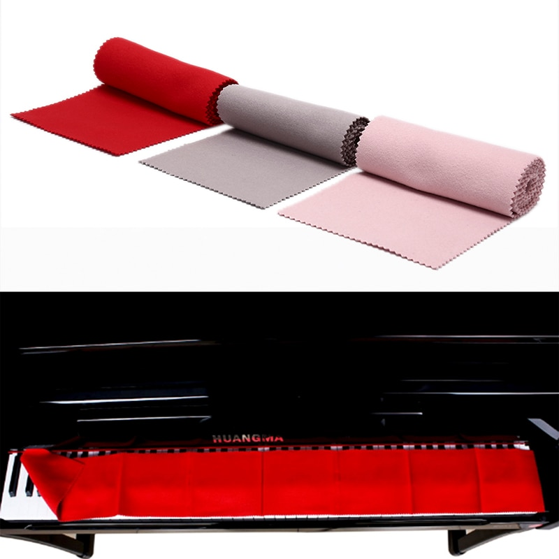 Taburete Red Cotton Piano Keyboard Dust Cover for All 88 Key Piano or Soft Keyboard Piano