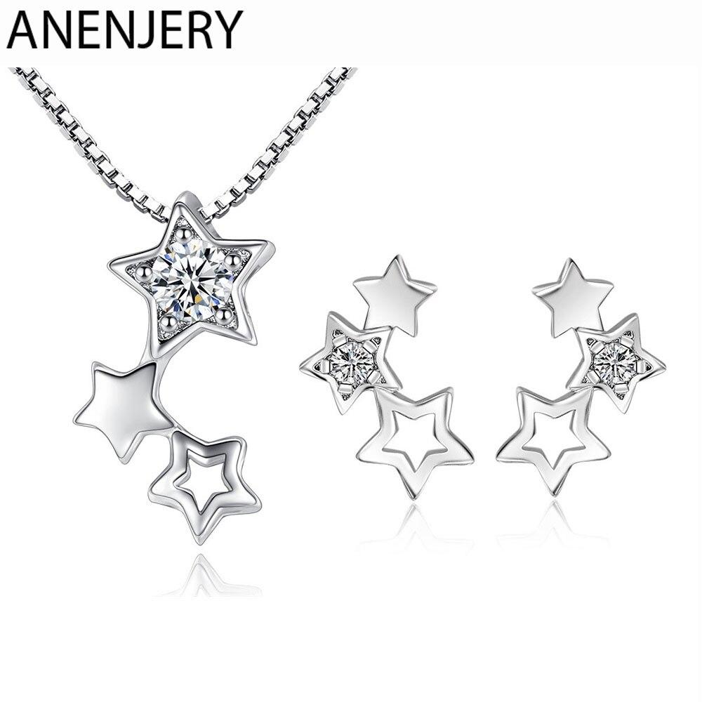 Набор-украшений-evimi-из-стерлингового-серебра-925-пробы-простое-ожерелье-серьги-со-звездой-из-циркония-подарок-для-женщин-и-девушек