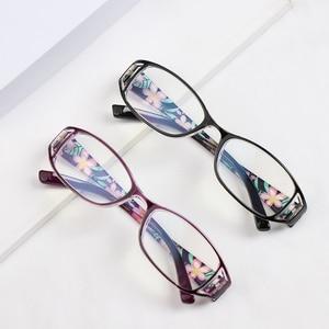 1 шт., модные очки для чтения с принтом, анти-синий светильник, очки с пружинным шарниром, прямоугольные очки для дальнозоркости для женщин