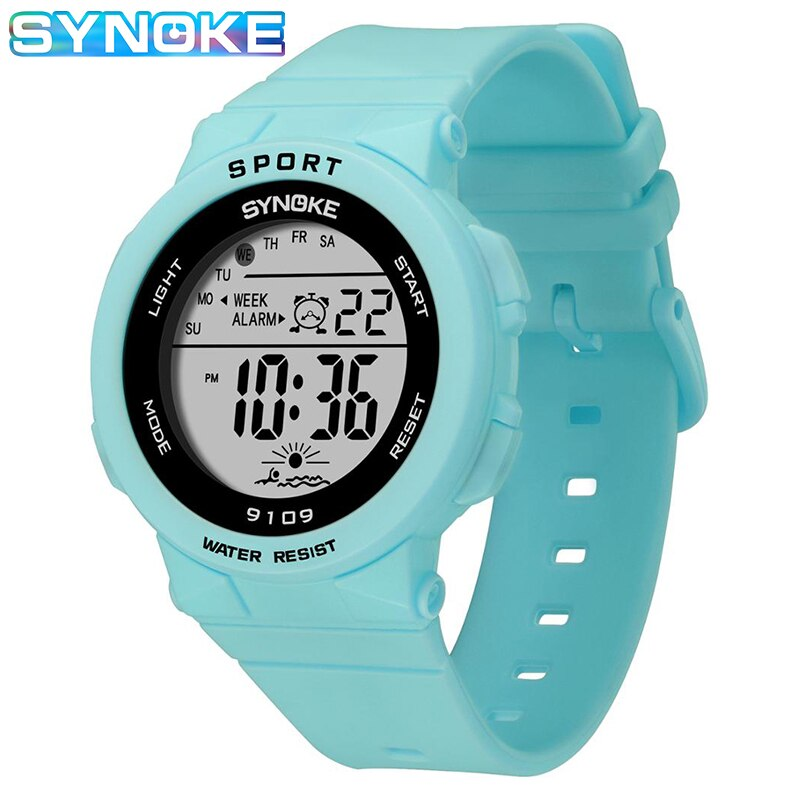 ohsen brand mens boys digital sports watches waterproof rubber band wristwatch led colorful backlight red army kids watch gift Boys Watches Kids SYNOKE Brand 5BAR Waterproof Digital Wristwatch Clock For Boys Girls Student Children LED Sports Kids Watch