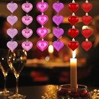 24 pieces Valentine decoration coeur ornements romantique saint valentin cadeaux coeur tissu decorations Scrapbook accessoires pour la maison