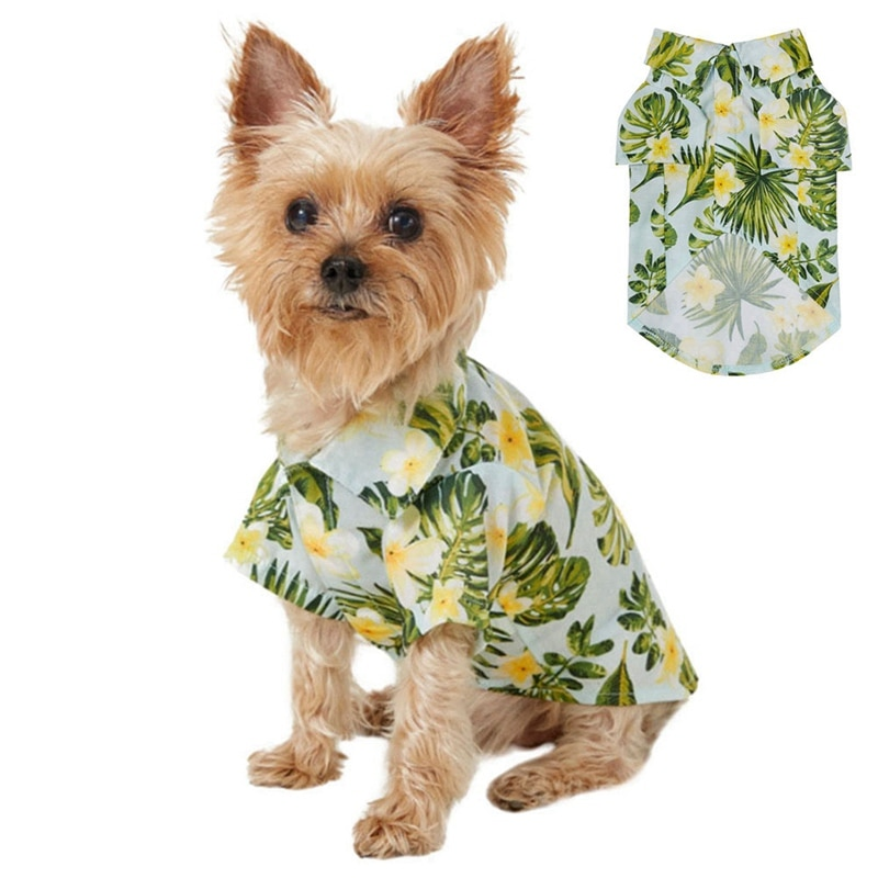 Moda transpirable Casual Pet Travel Shirts reereshing verano Hawaiano estilos coloridos ropa de playa perro camisas Pet