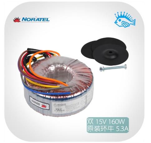 Importados nuevo Noratel 160VA 115/230 V, 2x15V 160w transformador toroidal