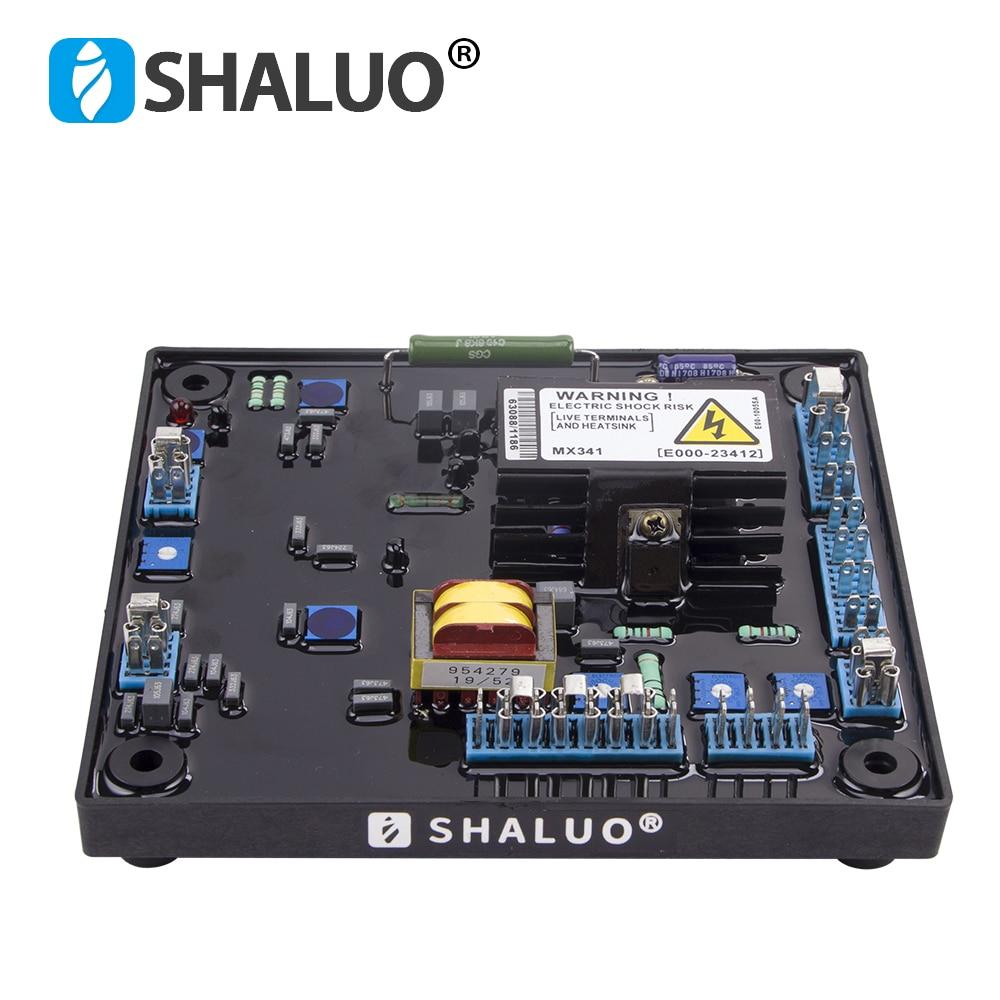 SHALUO MX341 مولد التلقائي تنظيم الجهد AVR المغناطيس الدائم الديزل فرش المولد منظم الطاقة مثبت
