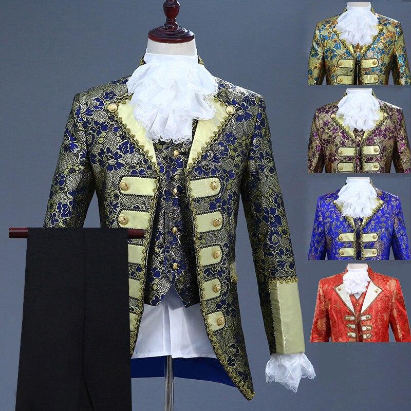 بدلة رسمية عتيقة للرجال في أوروبا ، بدلة رسمية لحفلات الزفاف ، بدلة مغني ، دراما ، استوديو مسرح ، DT1375