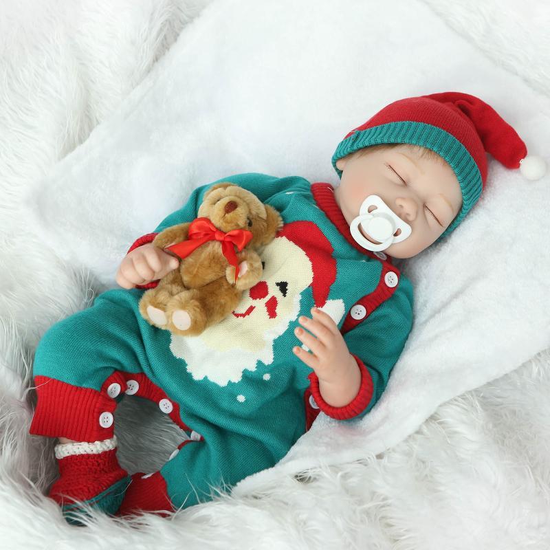 22 بوصة مهد الطفل تولد من جديد لينة سيليكون دمية بيبي تولد من جديد النوم الحقيقي الحقيقي دمية هدية ل ألعاب أطفال