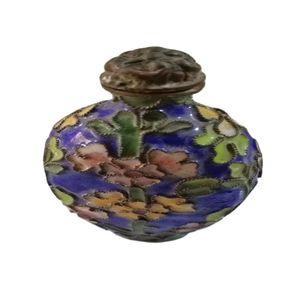 The Old Beijing Old Goods , Copper Cloisonne Vintage Snuff Bottle