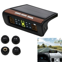 Car TPMS Tyre Pressure Monitoring System Solar Power Auto Security Alarm Systems Monitor Digital LCD