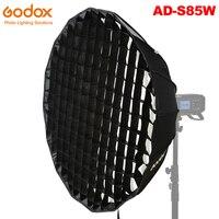 Godox AD-S85W Deep Parabolic Softbox 85cm Accessories Honeycomb Grid Godox Mount for Godox AD400Pro Flash Light White Interior