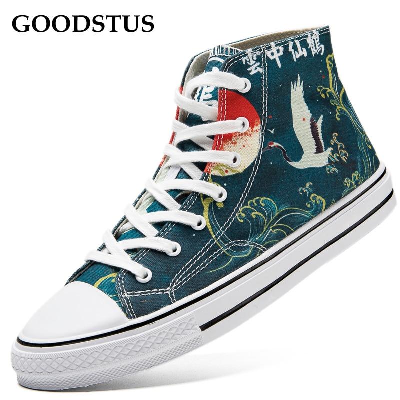 GOODSTUS/Мужская парусиновая обувь в китайском стиле Удобная дышащая для влюбленных