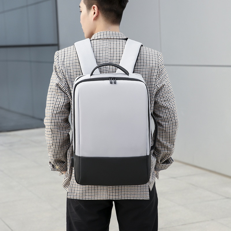 ZA5 Simple solid color business backpack 15.6