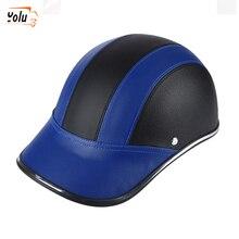 YOLU Motorrad Halb Helm Baseball Kappe StyleHalf Gesicht Helm Elektrische Fahrrad Roller Anti-Uv Sicherheit Harten Hut