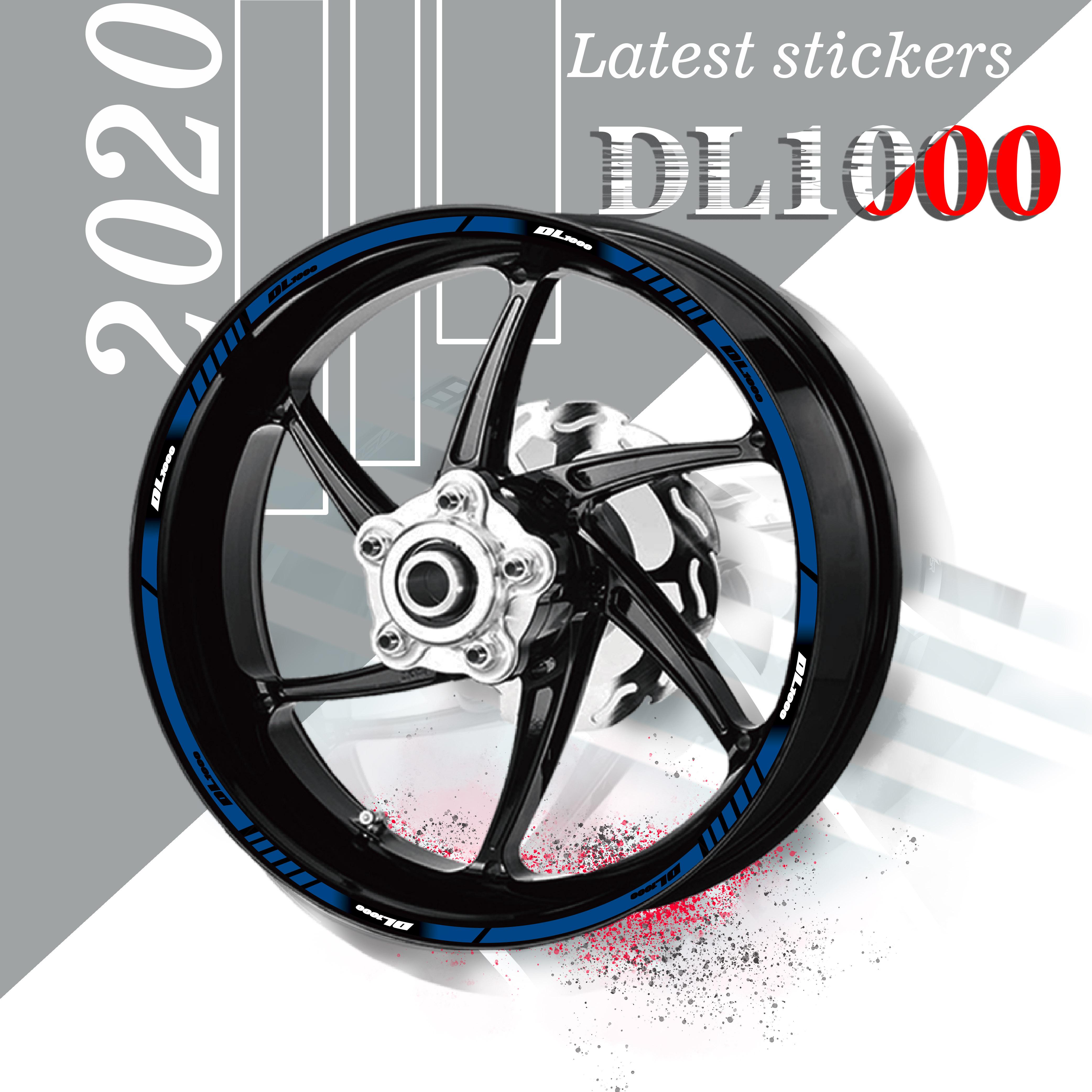 Pegatinas de cobertura completa para neumáticos de motocicleta, pegatinas reflectoras impermeables para SUZUKI DL1000 dl1000 dl 1000