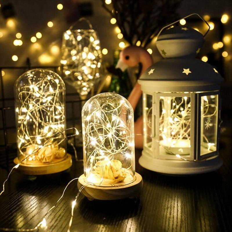 2m 5m 10m LED-uri cu șiruri de sârmă de argint ghirlande de - Luminări festive - Fotografie 4