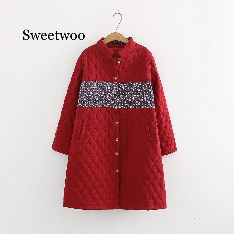 Женская Осенняя длинная легкая куртка, пальто, шикарное однобортное женское пальто с длинным рукавом и цветочным принтом, парка, парка