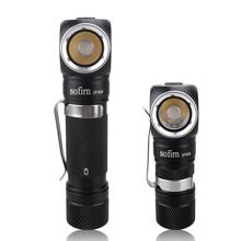 Sofirn-linterna frontal LED SP40A, luz óptica TIR recargable por USB, LH351D, 1200lm, 18650, ángulo de 18350, con imán trasero