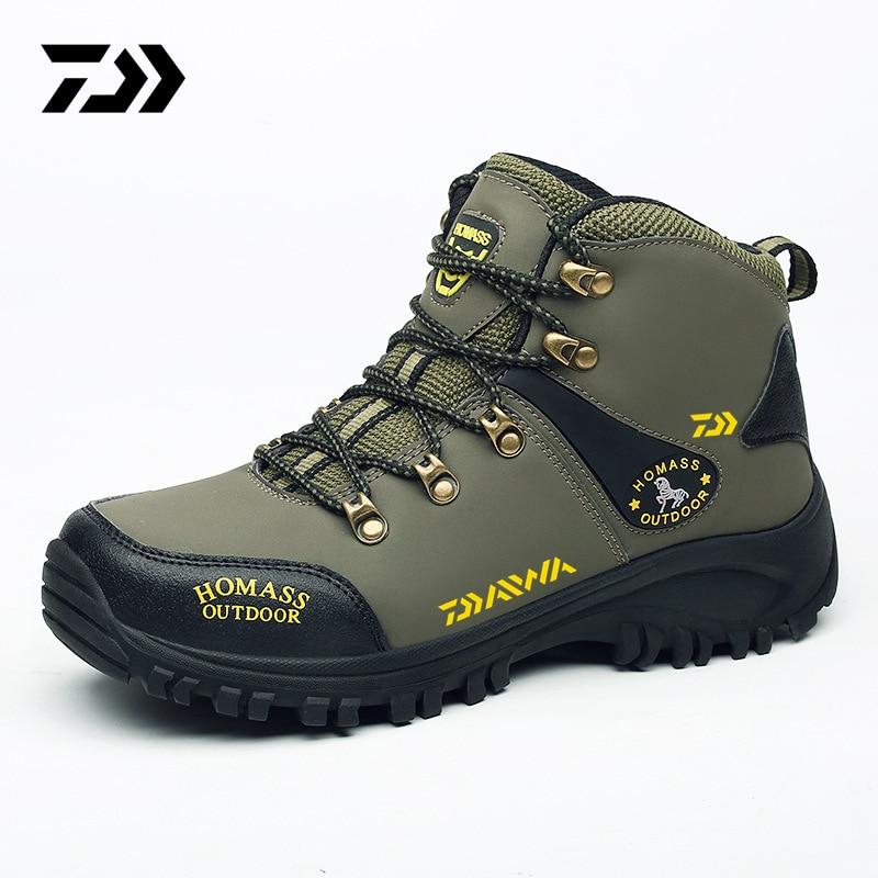 Daiwa-أحذية صيد للمشي لمسافات طويلة للرجال ، أحذية تسلق جبلية غير قابلة للانزلاق ، أحذية رياضية خارجية ، مسامية ، مقاومة للماء ومضادة للاهتراء