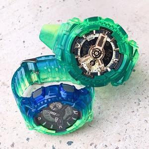 Смола ТПУ резиновый ремешок для наручных часов чехол для объектива с оптическими зумом Casio G-SHOCK GA-110 120 GD-100 часы и чехол модные спортивные час...