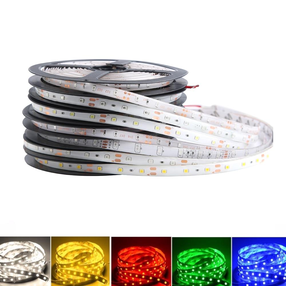 DC 12V LED Strip Light For Led TV Backlight 2835 SMD RGB 1M 2M 3M 4M 5M 12 V 60LED/M Led Strip Tape Lamp Diode LEDs TV Backlight