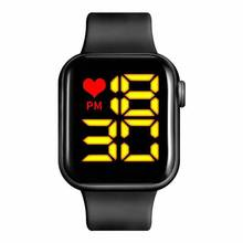 Men's Watch LED Digital Watch for Men Women Sports Army Military Silicone Watch Electronic Cock Hodi