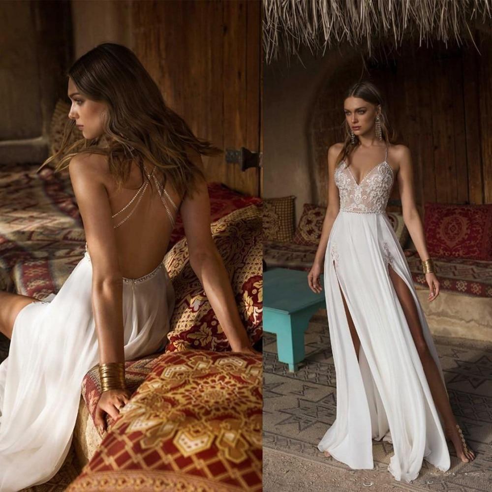 Vestido De Novia Sexy De corte en A, vestidos De boda abiertos...