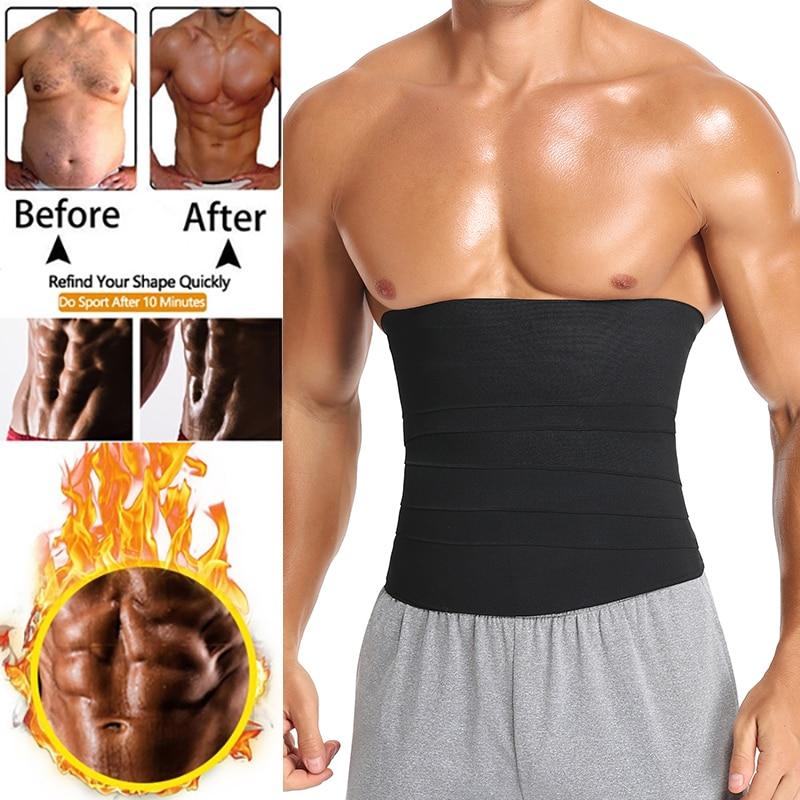 Бандаж для мужчин, невидимый бандаж для талии, тренировочная лента, бандаж для поддержки поясницы, бандаж для похудения