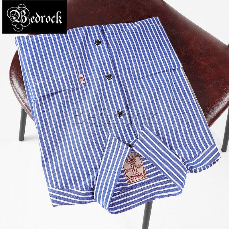 MBBCAR قميص مخطط أزرق للرجال ثنائي الجيوب قميص صيفي قصير الأكمام قمصان غير رسمية مريحة ناعمة 9169
